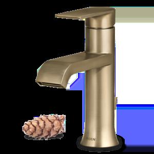 Moen Genta Single-Handle Bathroom Faucet In Bronzed Gold