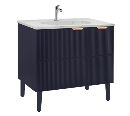 Browse Bathroom Furniture Cabinets in Royal Blue Finish