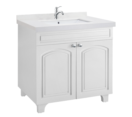 Browse Bathroom Furniture Cabinets in Polar White Finish