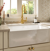 Side View Fireclay Kitchen Sink